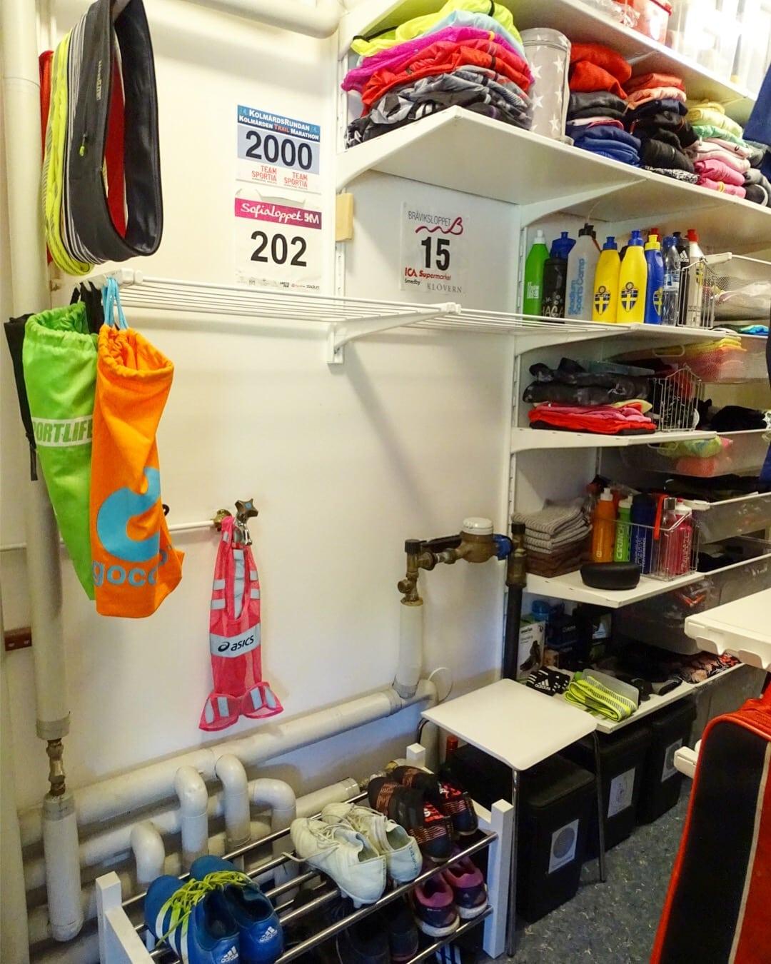 Walk-in-closet för träningskläder