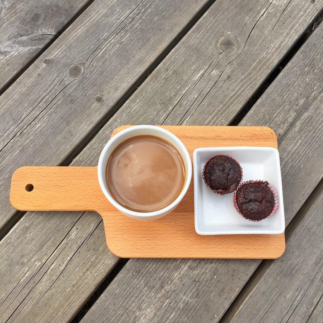Choklad- och hasselnötsmuffins