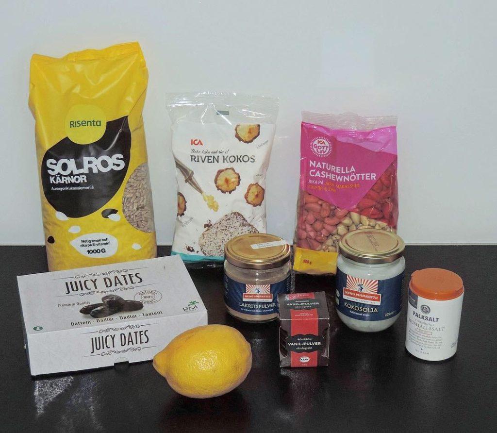 Citron- och lakritsbollar