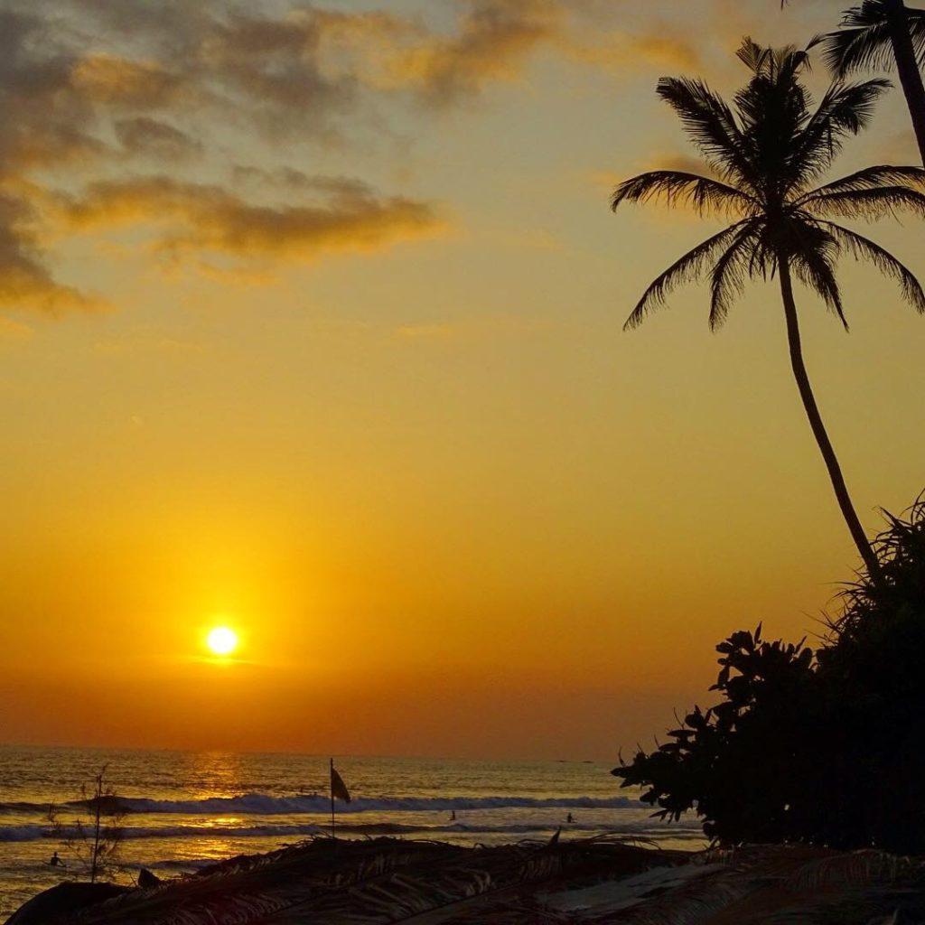 Solnedgång på Sri Lanka