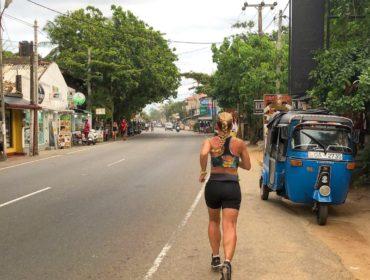 Löpning i Hikkaduwa
