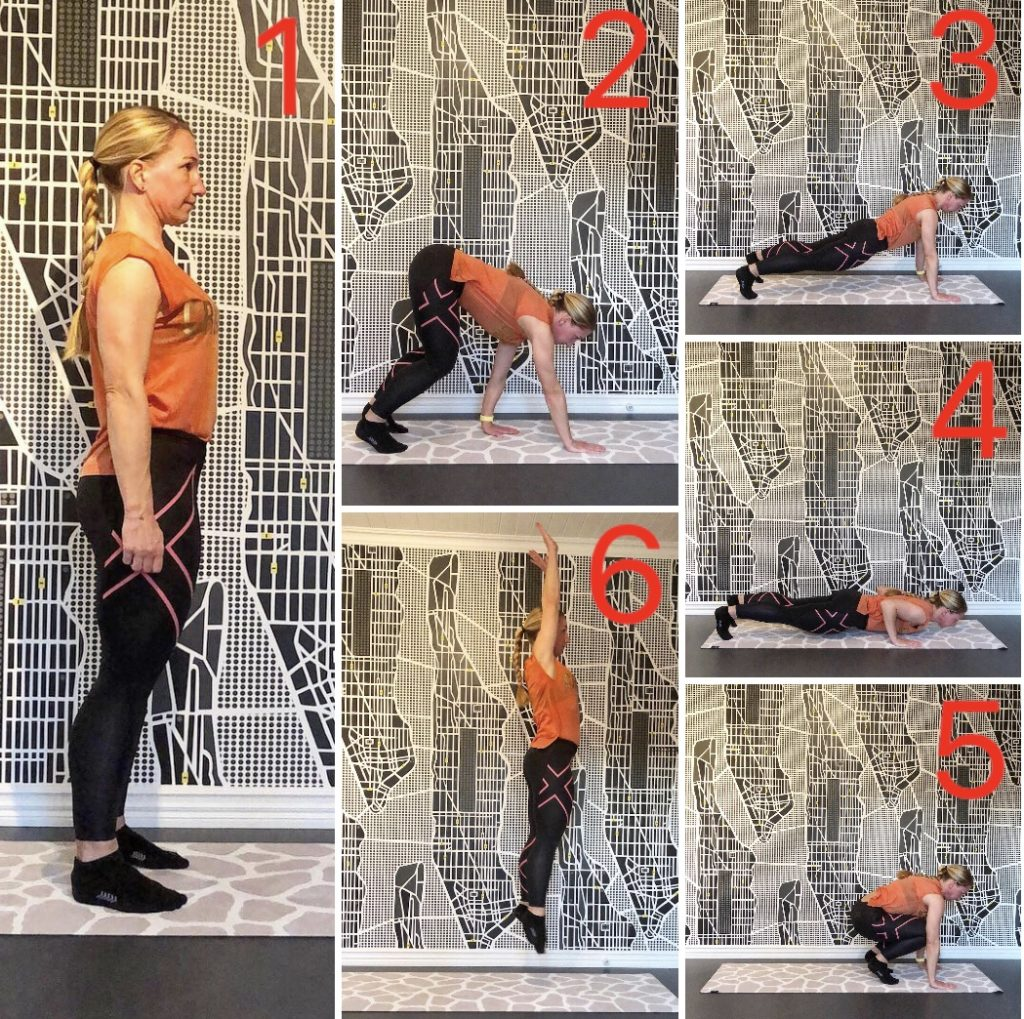 Burpee med crawl out