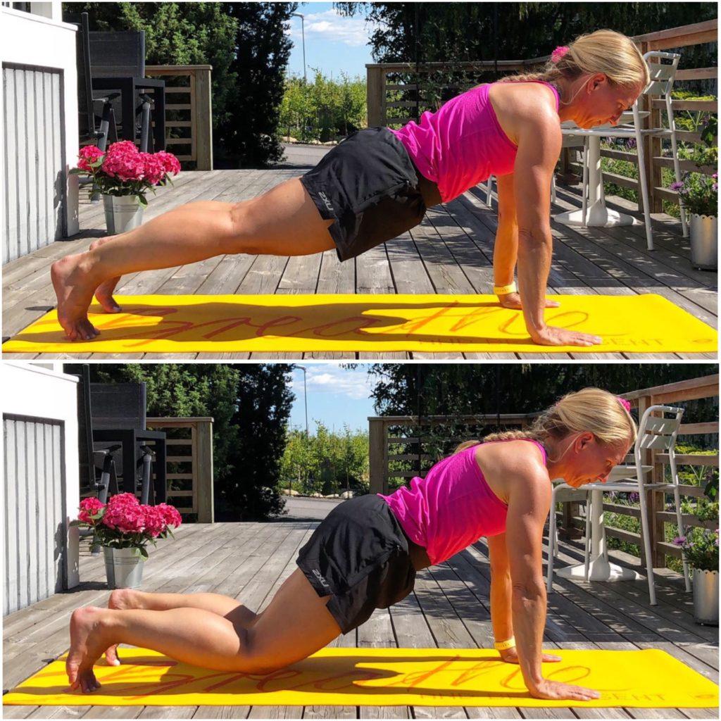 Planka med knädutt