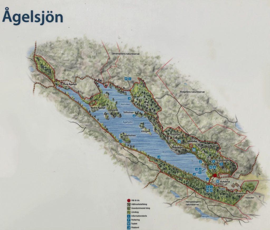 Ågelsjön karta
