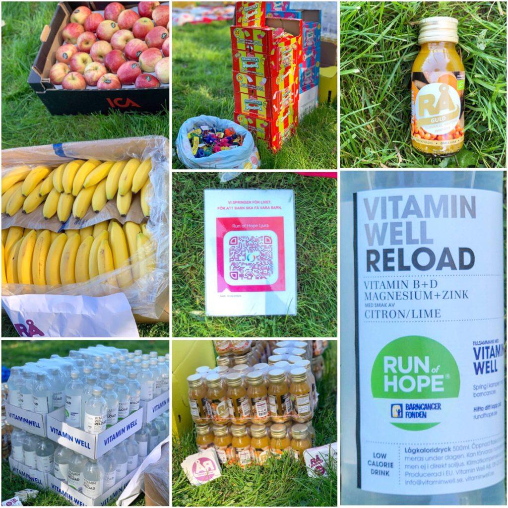Sponsrad mat och dryck Run of Hope
