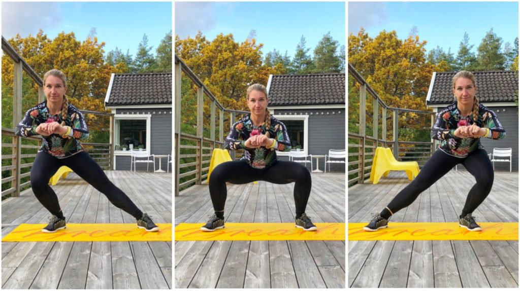 Bodyweight sway squat