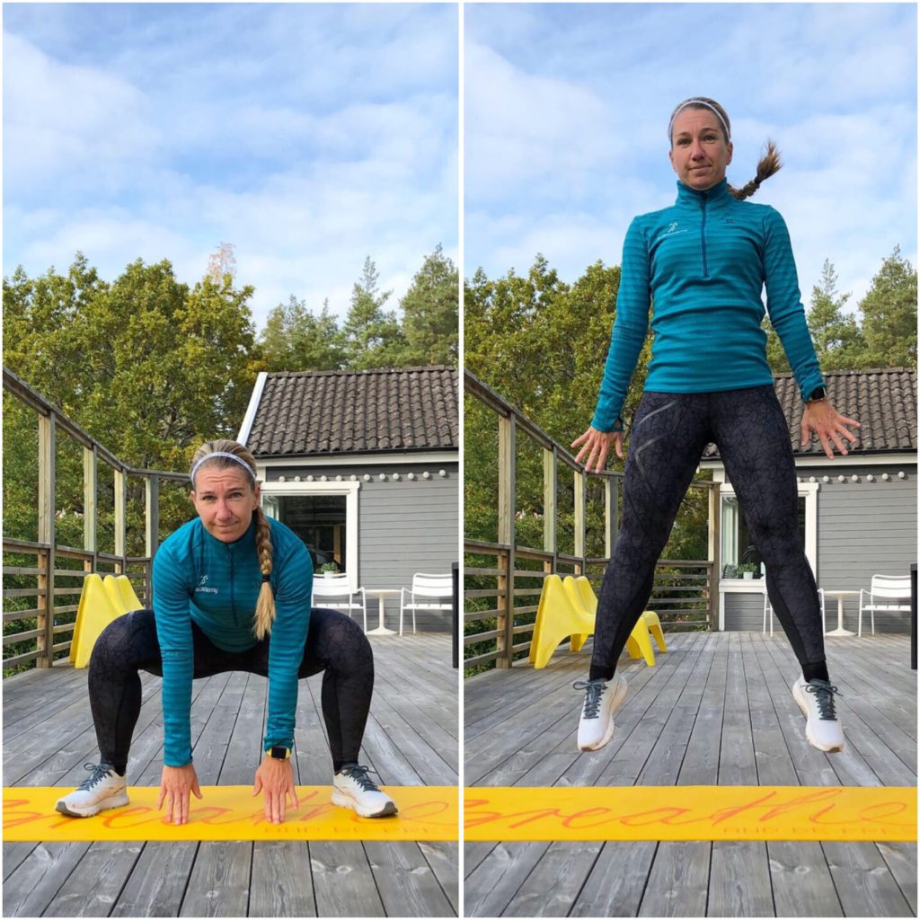 Breda squat med hopp