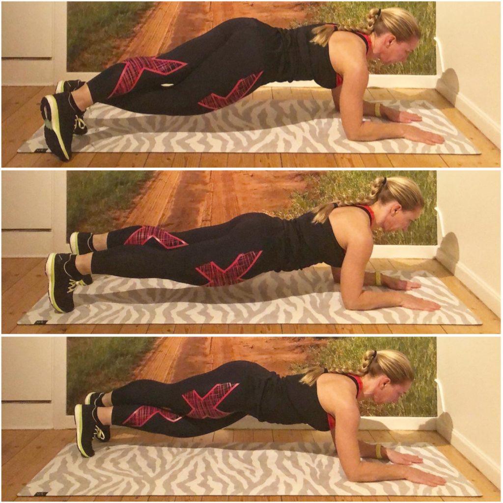 Planka med benförflyttning
