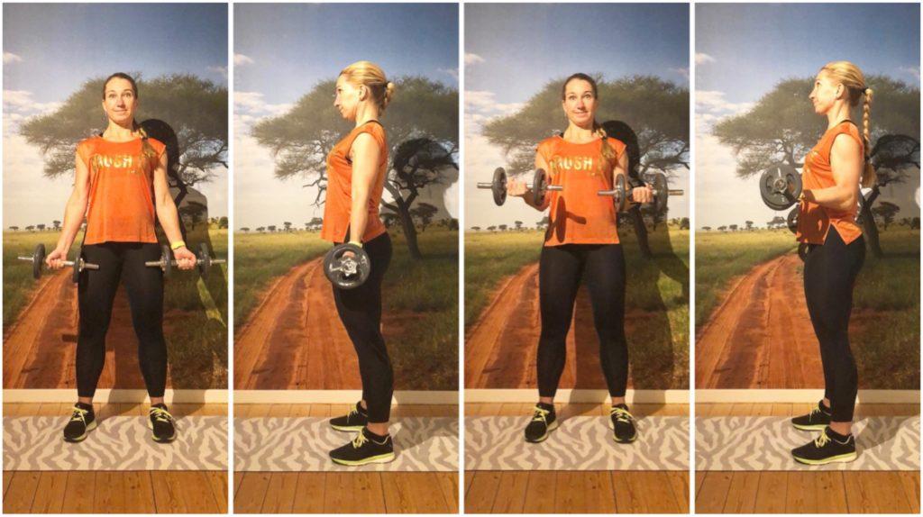 Biceps - från rak arm till 90 grader