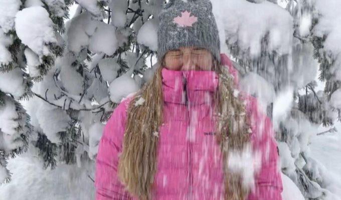 Vickan i snö