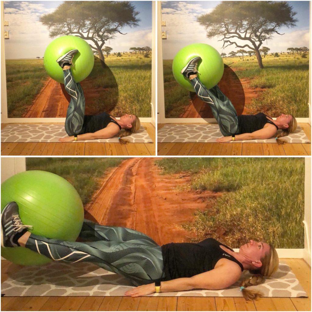 Benlyft med balansboll