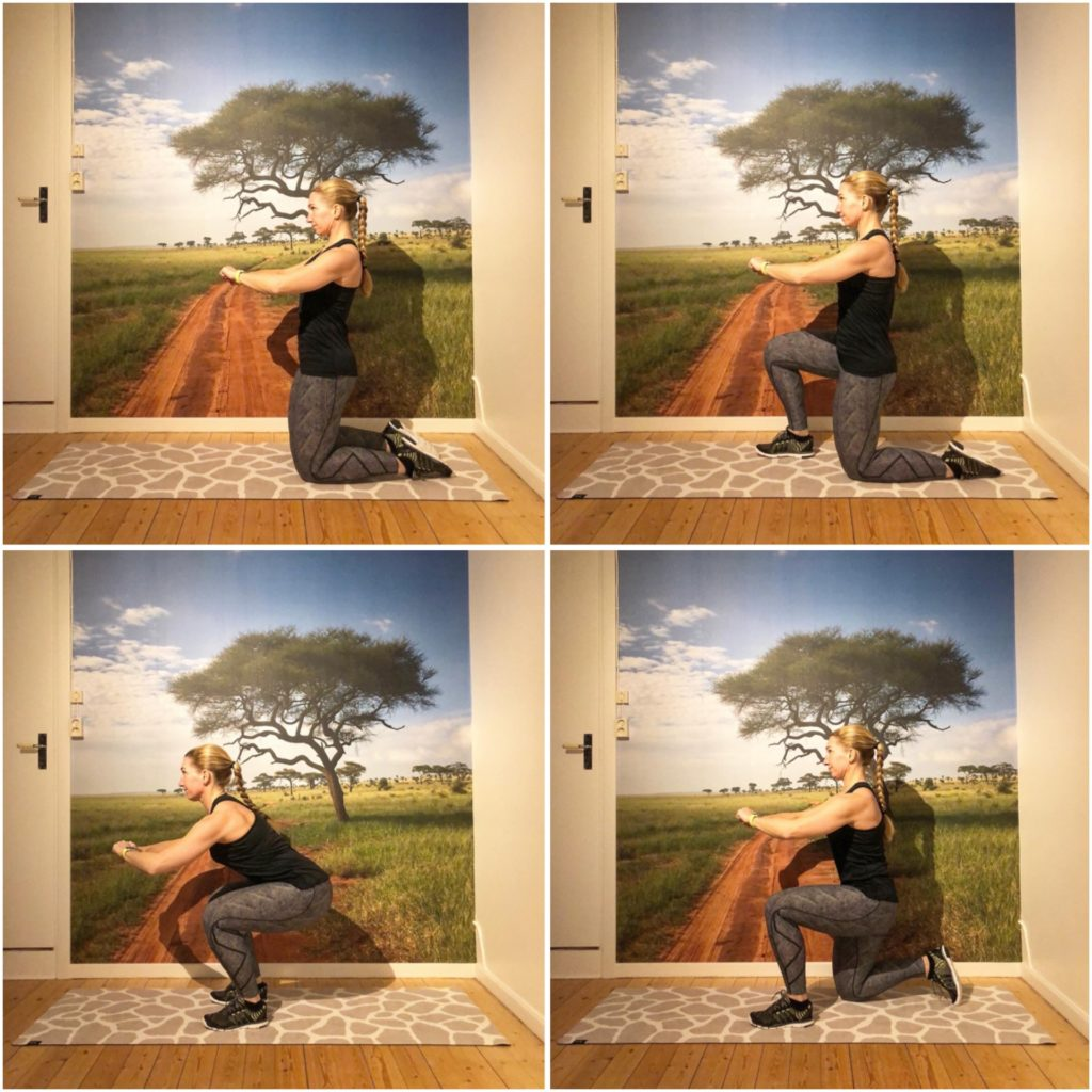 Knästående till squat