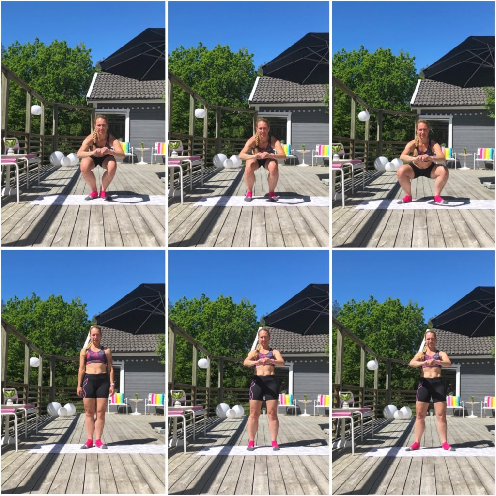 Tre olika squats