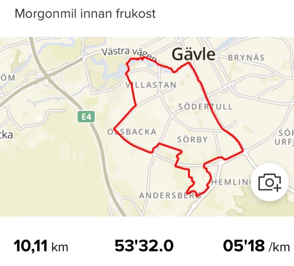 Morgonmil i Gävle