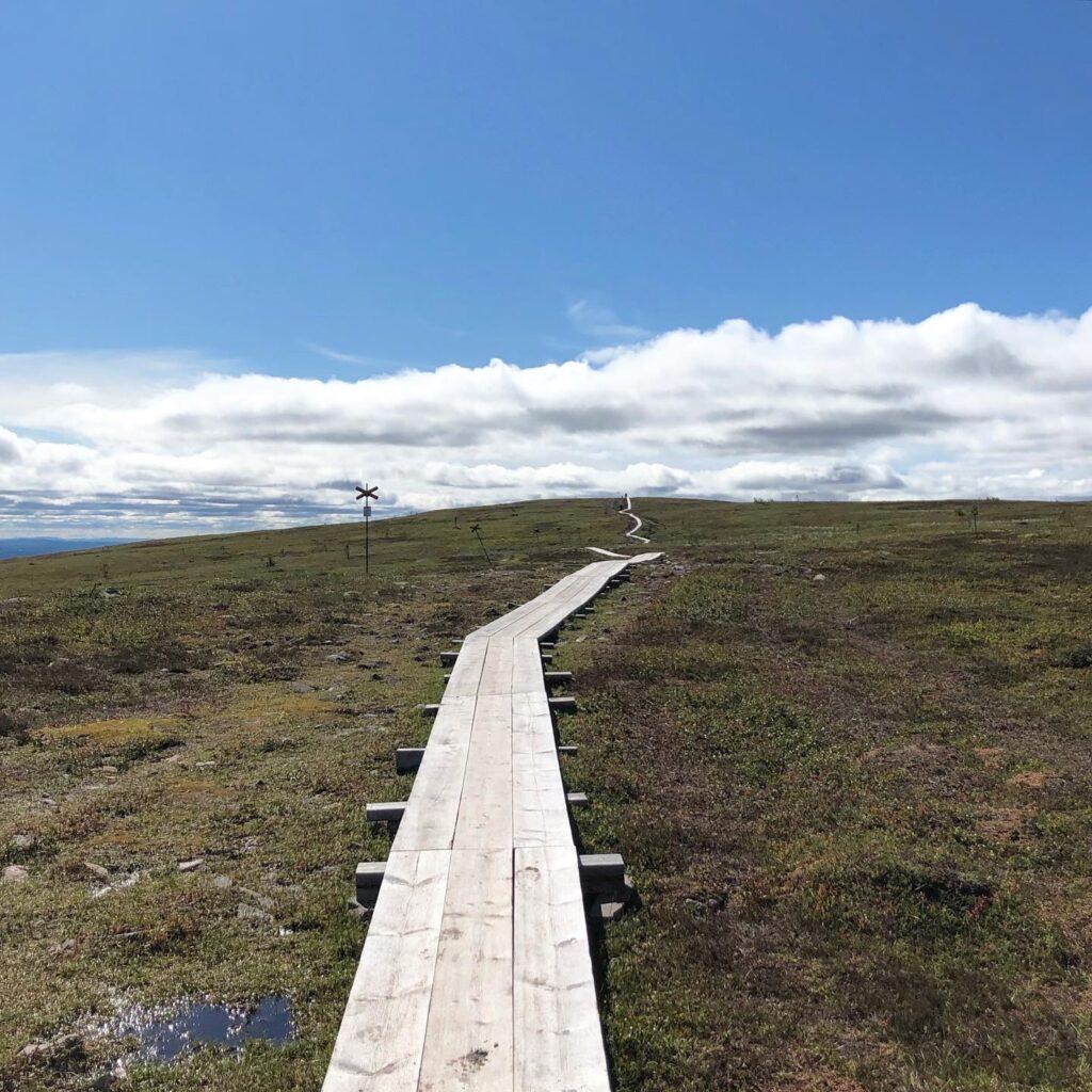 Vandring till Stensjön och Mellanfjällets topp