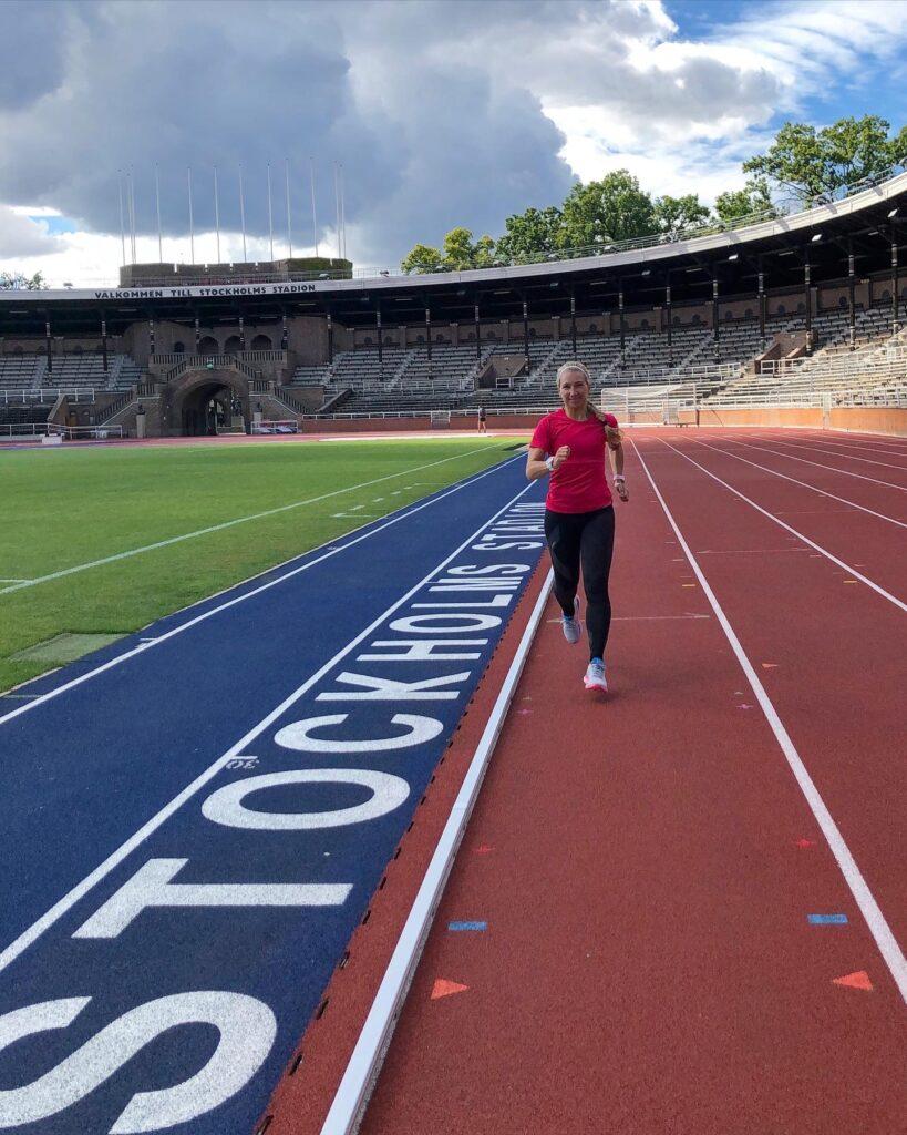 Löpning på Stockholms Stadion