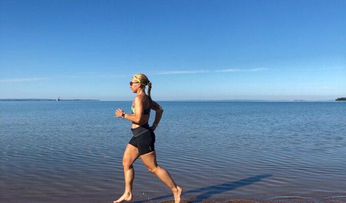 Startar augusti med strandlöpning