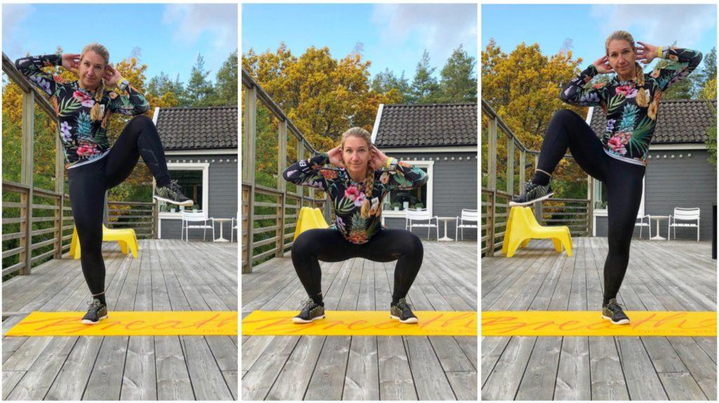 squat med sned magmuskel