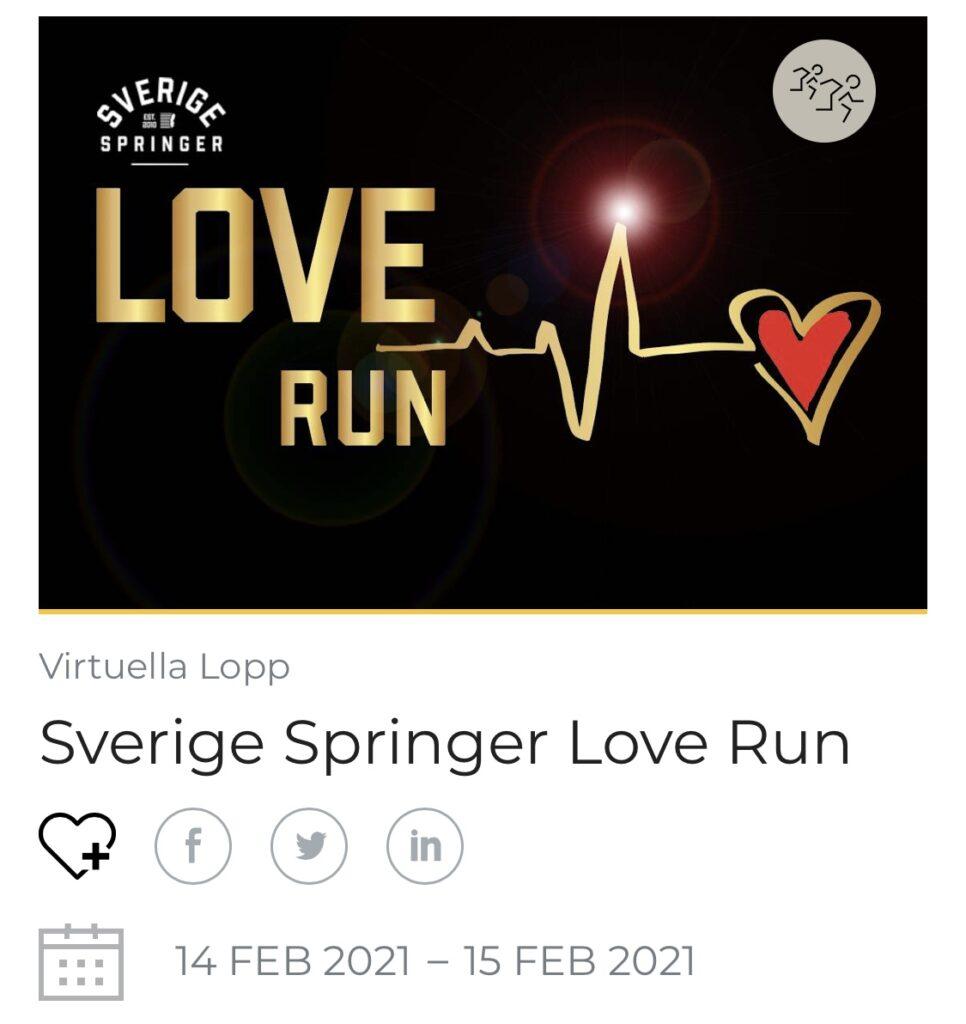 LoveRun Sverige Springer