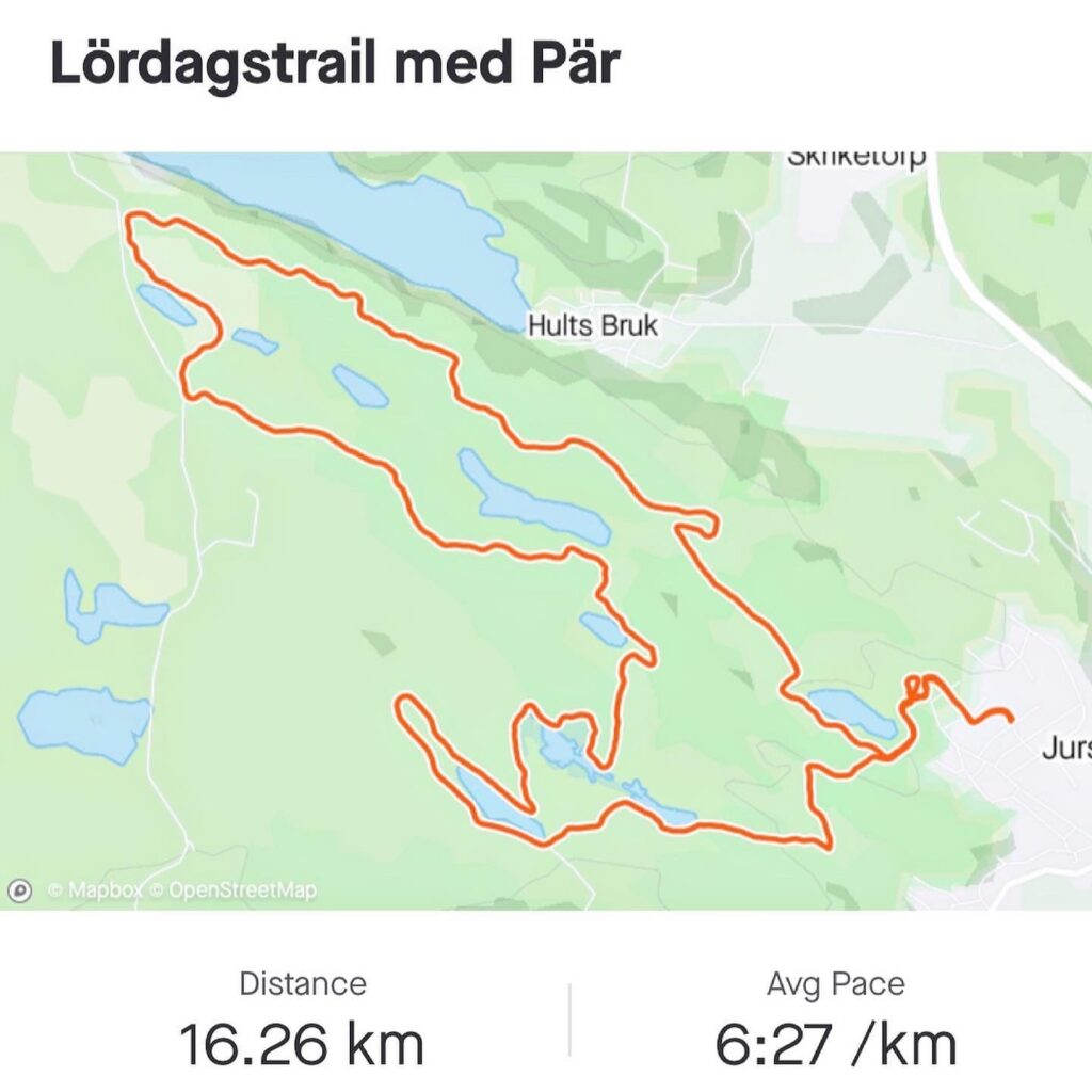 Lördagsmilen blev 16 km