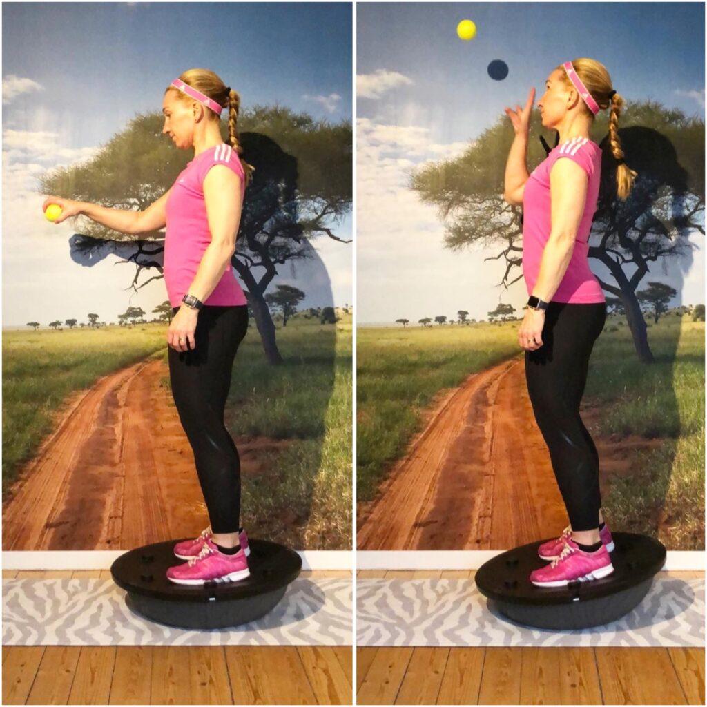 Axelremsväska med tennisboll på bosuboll