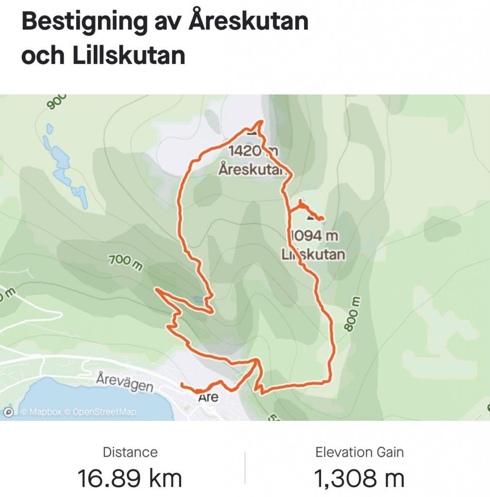 Karta Toppbestigning Åreskutan