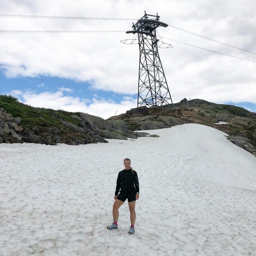 Snö på Åreskutan