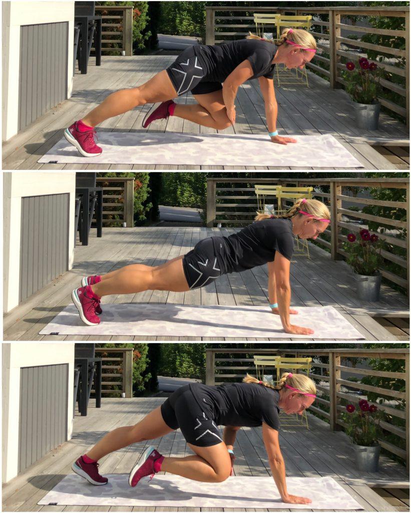 Planka med knätouch
