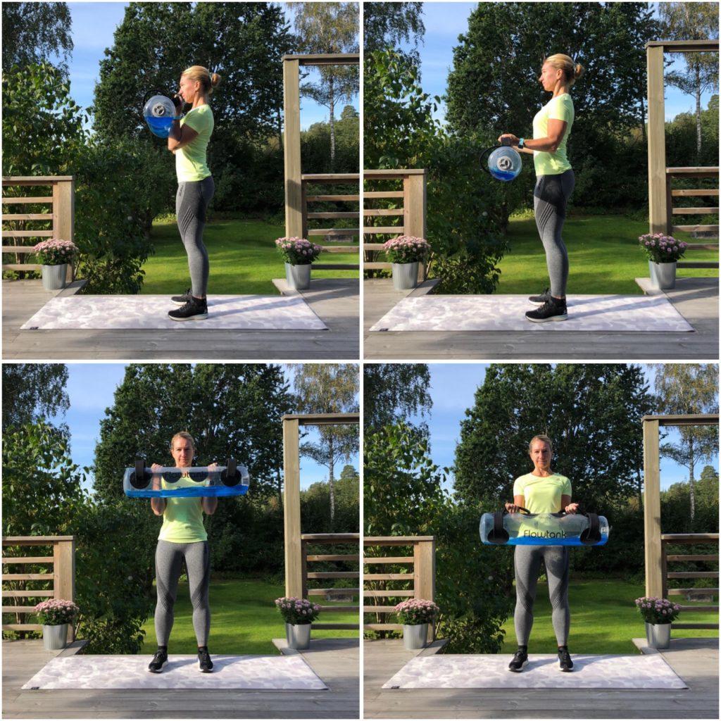Biceps – axel till böjd i 90 grader