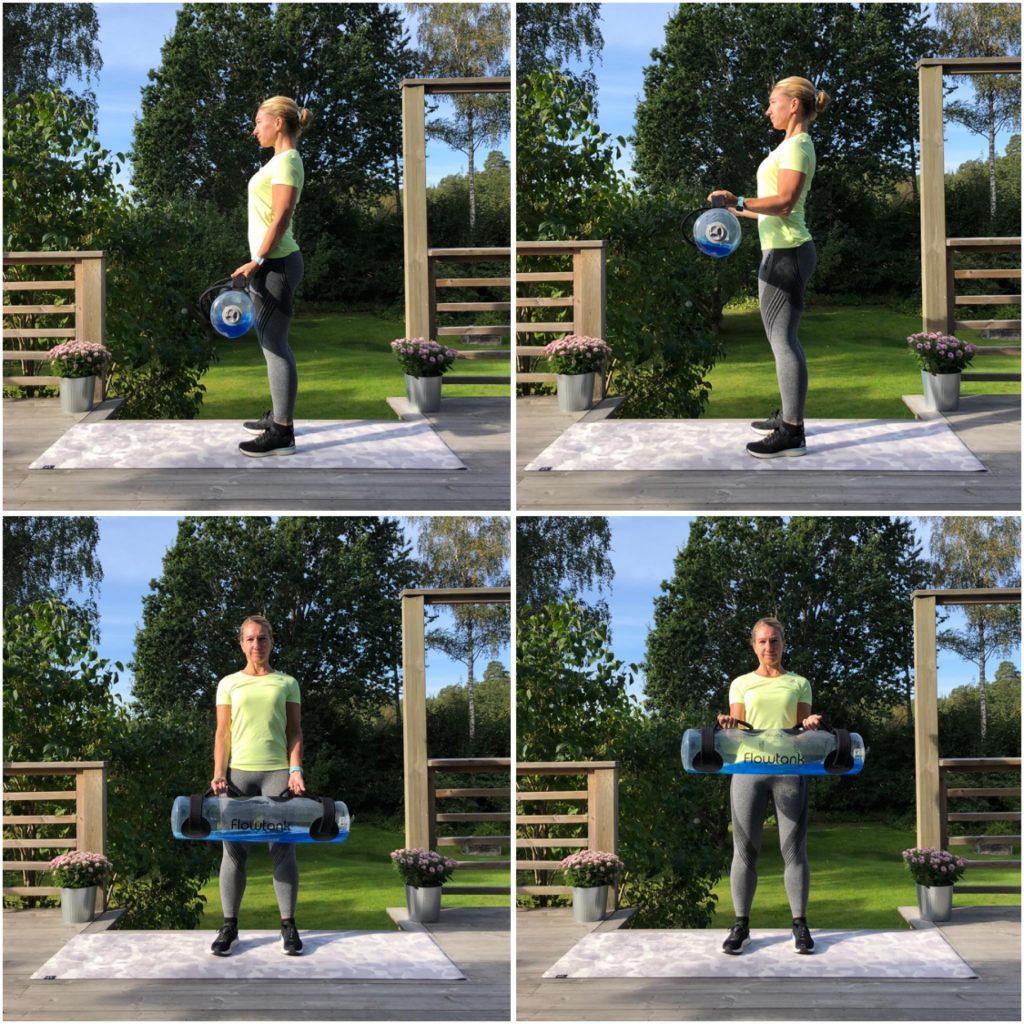 Biceps – rak arm till böjd i 90 grader