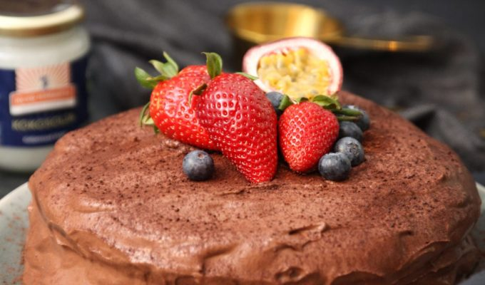 Glutenfri chokladtårta