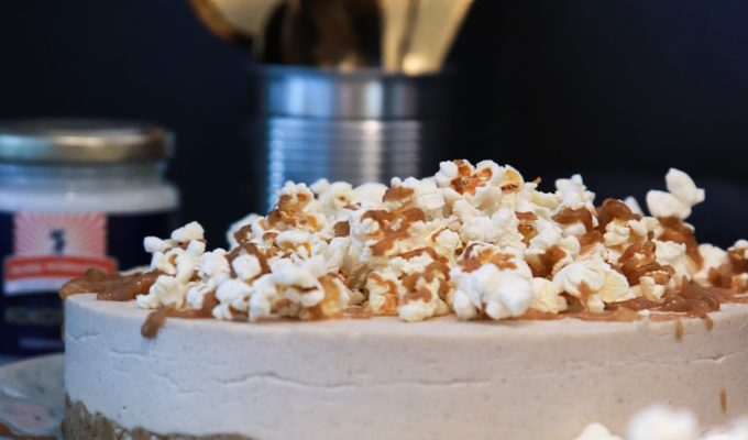 vegansk popcorntårta