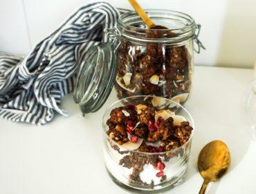 Glutenfri chokladgranola