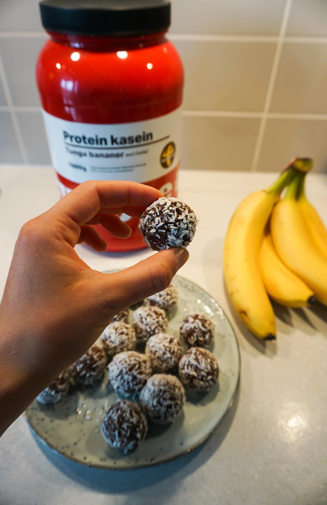 proteinbollar banan choklad