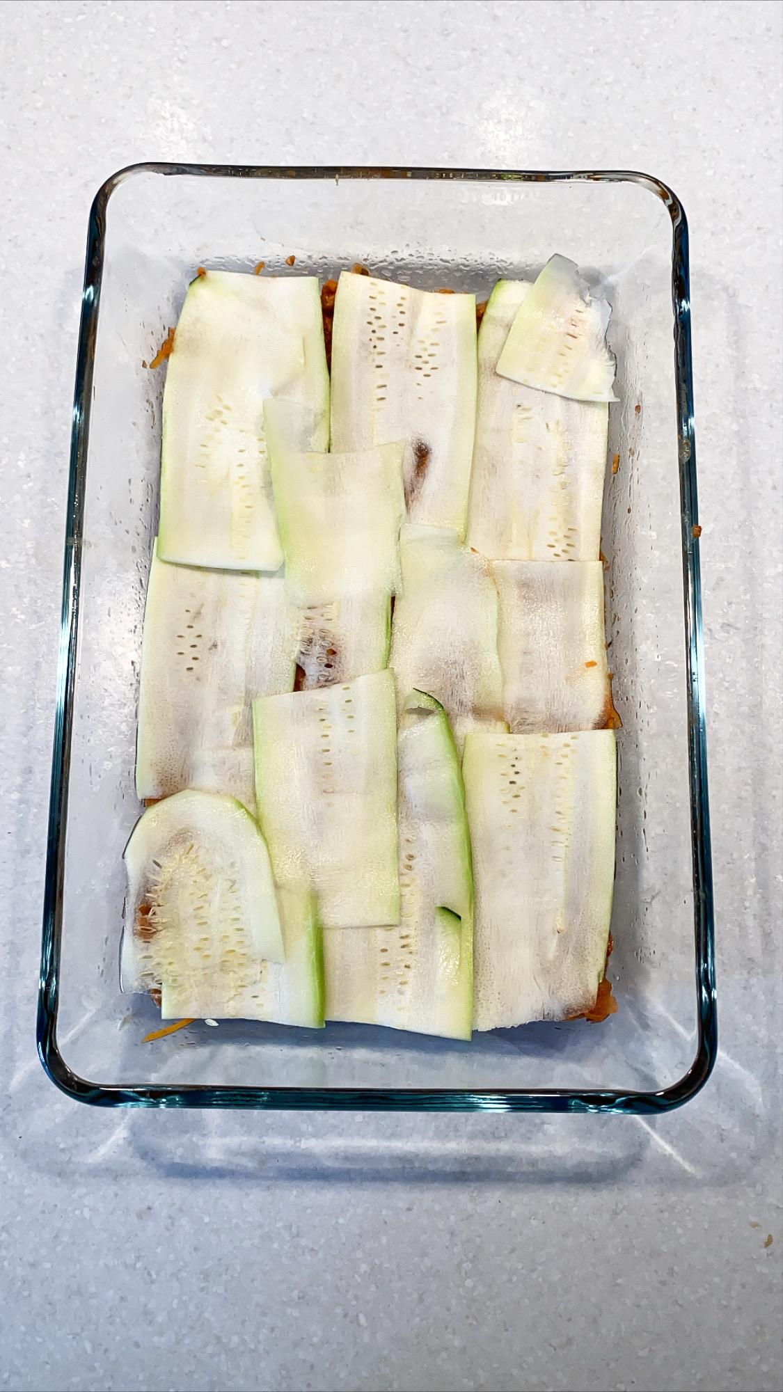 vegetarisk zucchini lasagne