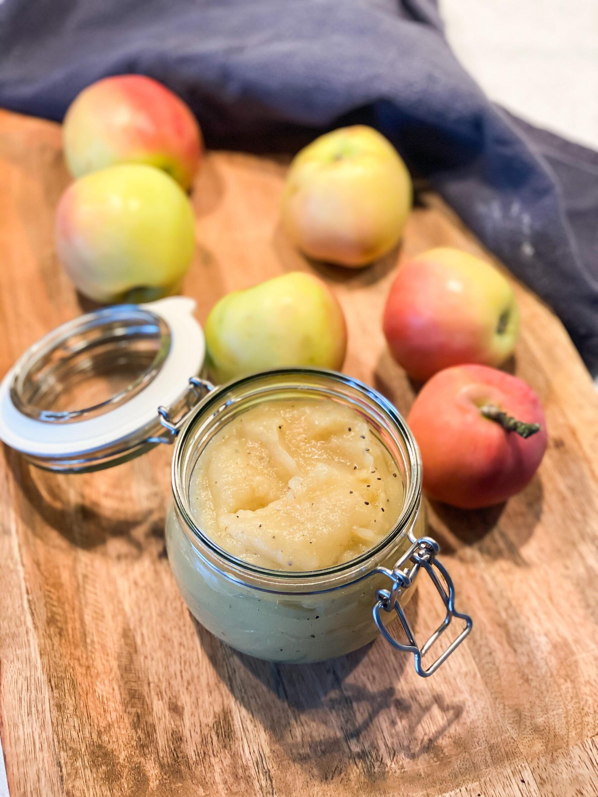 äppelmos utan tillsatt socker