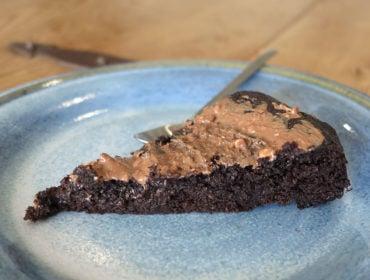 brownie av svarta bönor