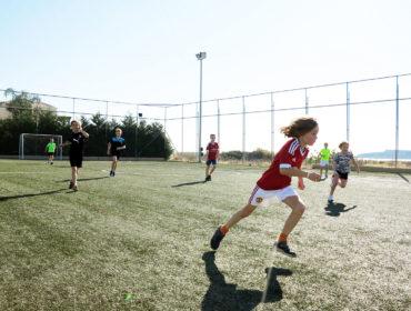 Fotboll på Mythos Beach /annalissjanis.se