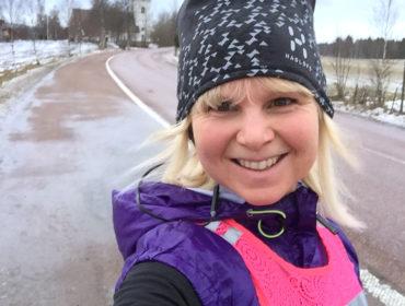Anna Lissjanis, löpning i Dalarna.