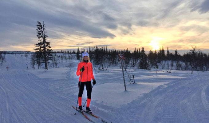 Skidor på Blåsjöfrjället/Anna Lissjanis