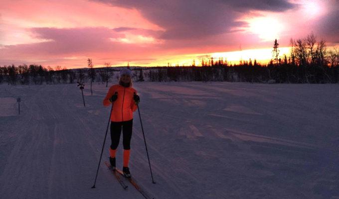 Skidor på Blåsjöfjället /Anna Lissjanis