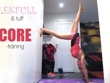 Coreträning mot vägg /trendotraning