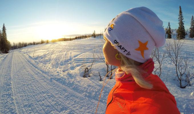 Anna Lissjanis - vinterlöpning i soluppgång