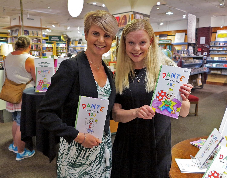 Anna Lissjanis, Caroline Nilsson med barnboken om Dante på NK