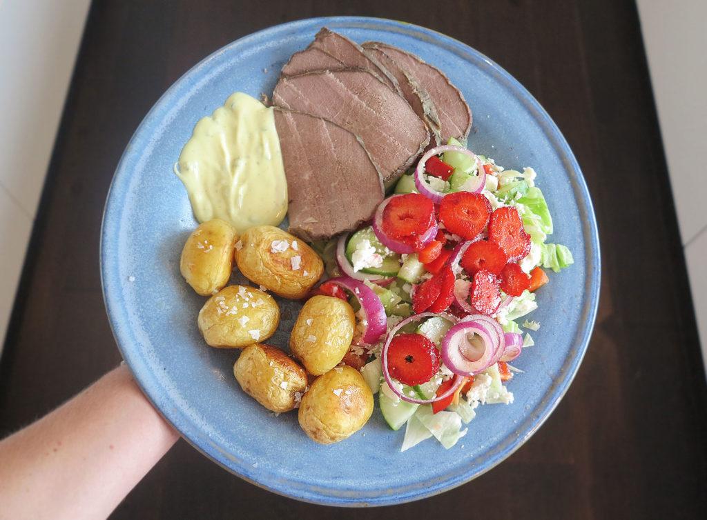 Tjälknöl med potatis och brasås /Anna Lissjanis