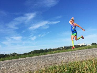 Anna Lissjanis springer på Gärdet.