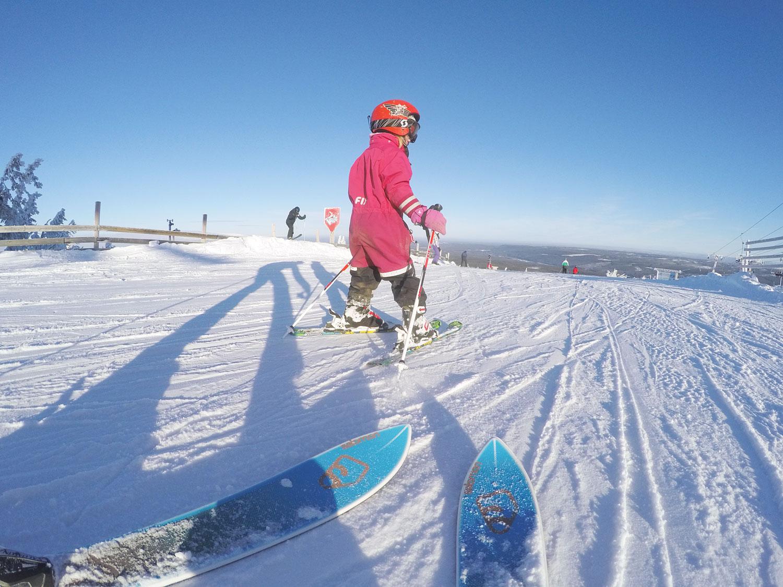skidor med barn