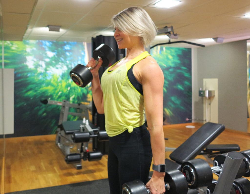 styrketräning med split