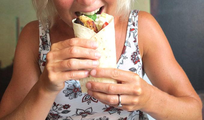 chicken tortilla wrap