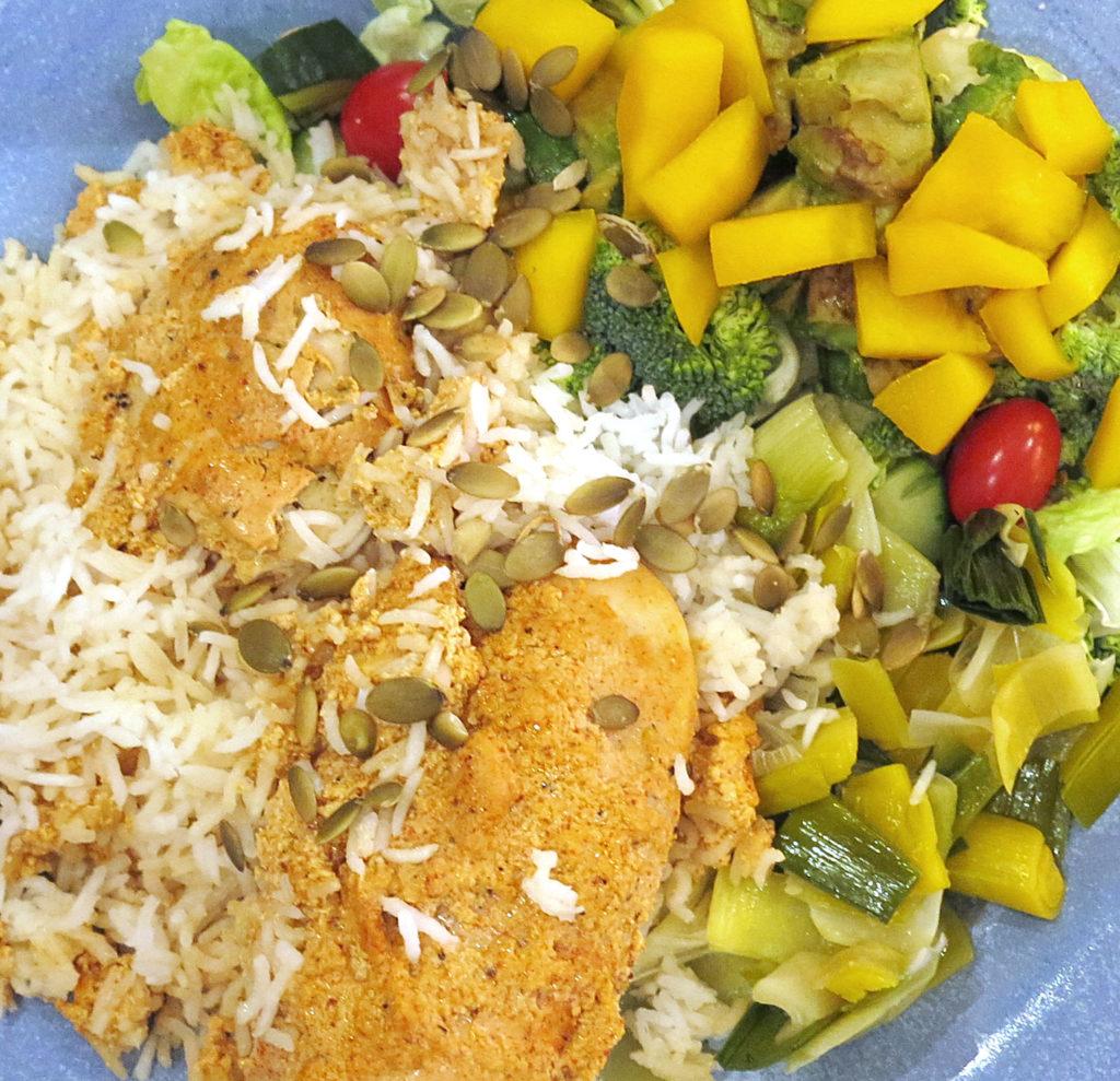 tandoorikyckling med mangosallad
